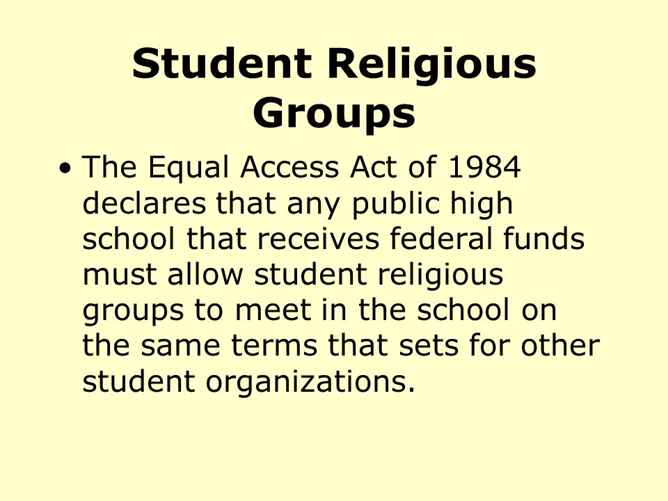 Student Religious Groups