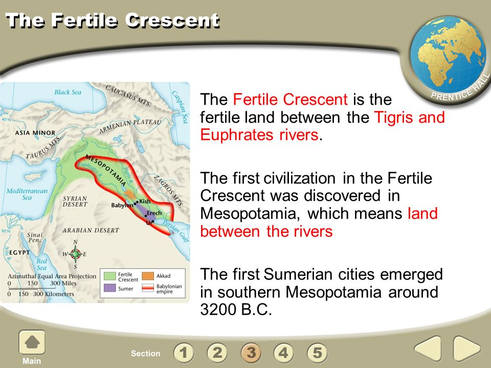 The Fertile Crescent The Fertile Crescent is the fertile land between the Tigris and Euphrates rivers.