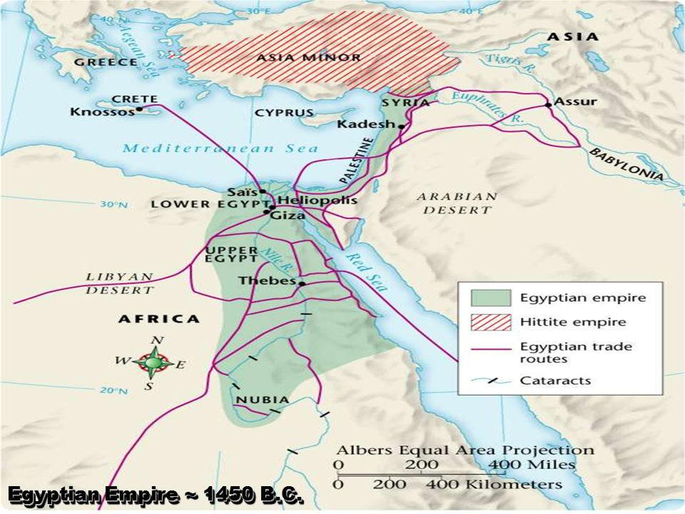Egyptian Empire ~ 1450 B.C.