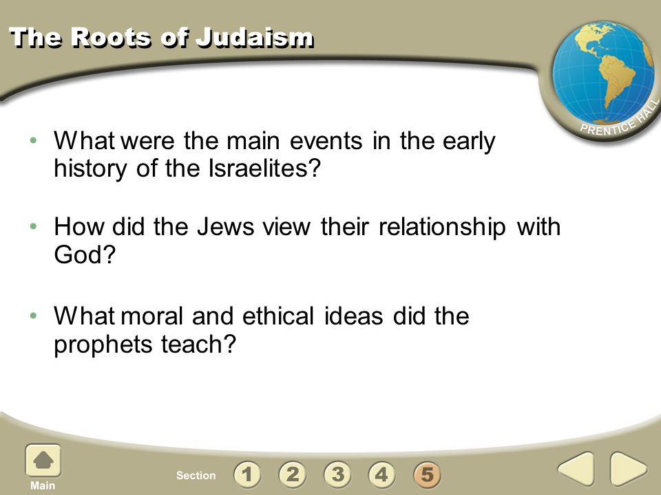 The Roots of Judaism What were the main events in the early history of the Israelites How did the Jews view their relationship with God