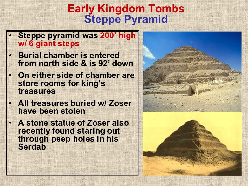 Early Kingdom Tombs Steppe Pyramid
