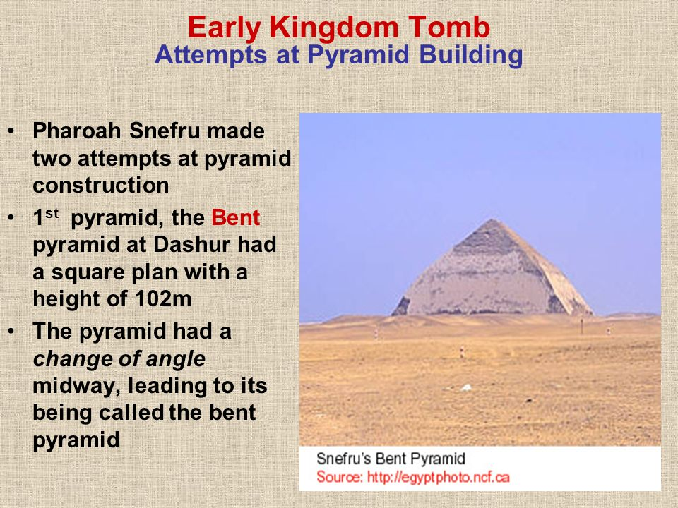 Early Kingdom Tomb Attempts at Pyramid Building