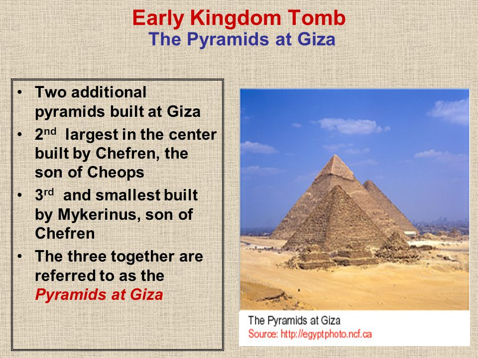 Early Kingdom Tomb The Pyramids at Giza