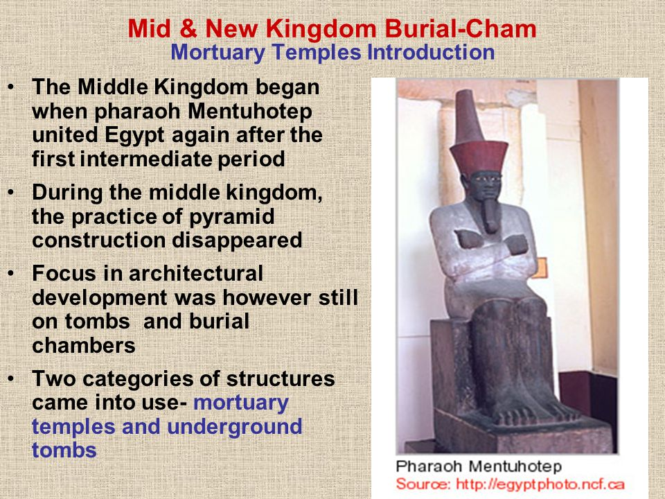 Mid & New Kingdom Burial-Cham Mortuary Temples Introduction