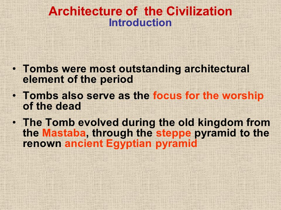 Architecture of the Civilization Introduction