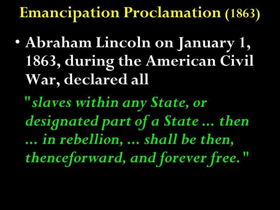 Emancipation Proclamation (1863)