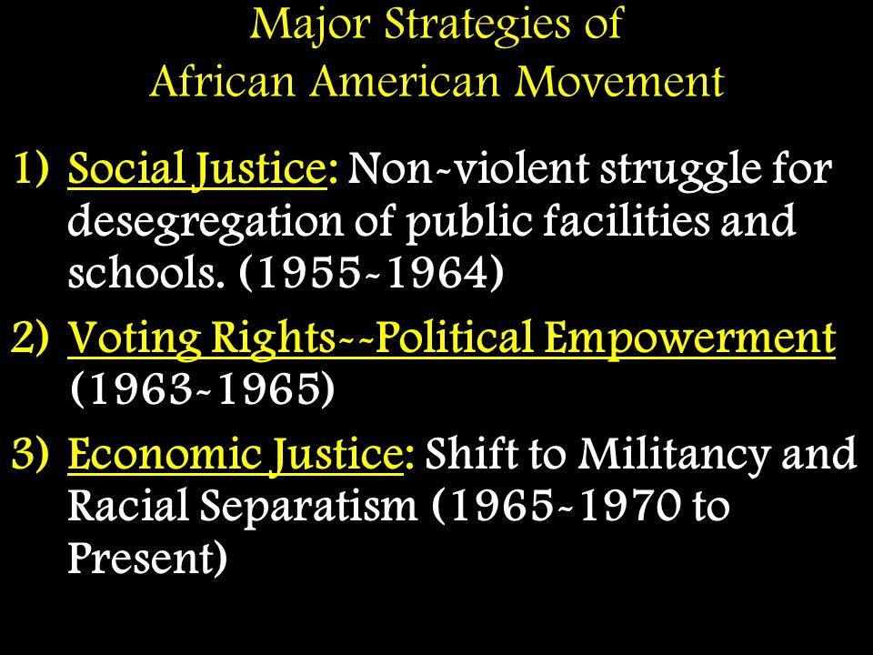Major Strategies of African American Movement