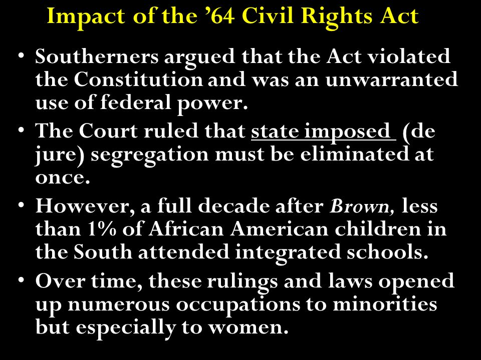 Impact of the '64 Civil Rights Act