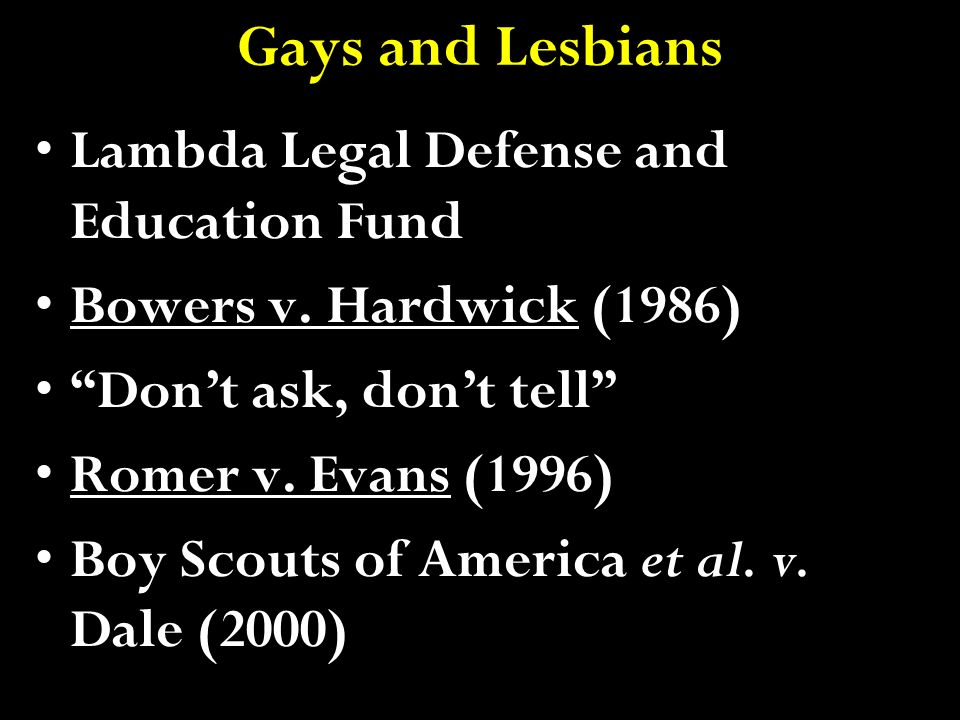 Gays and Lesbians Lambda Legal Defense and Education Fund
