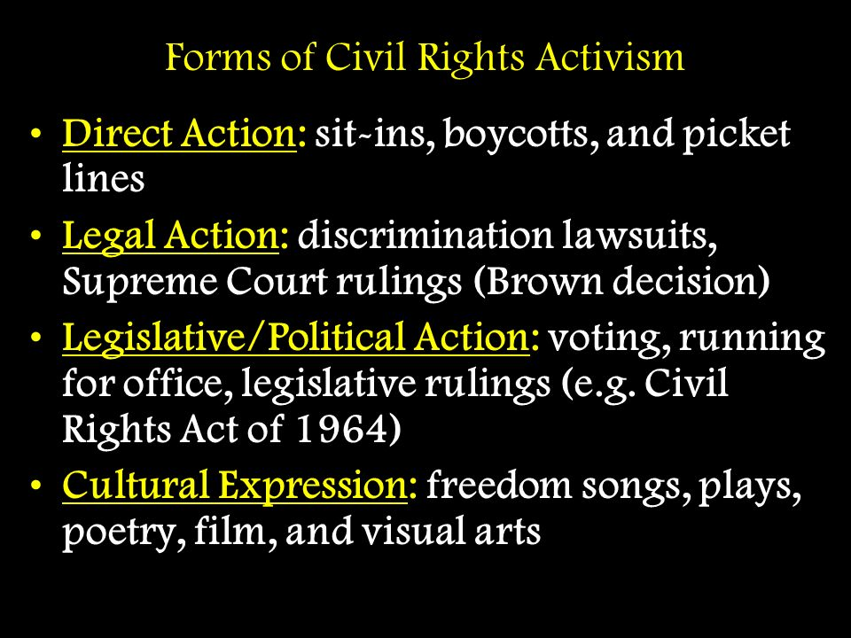 Forms of Civil Rights Activism
