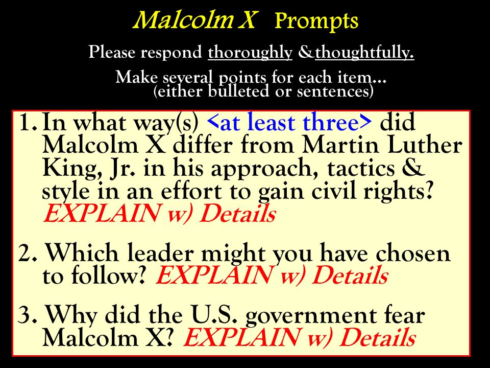 2. Which leader might you have chosen to follow EXPLAIN w) Details