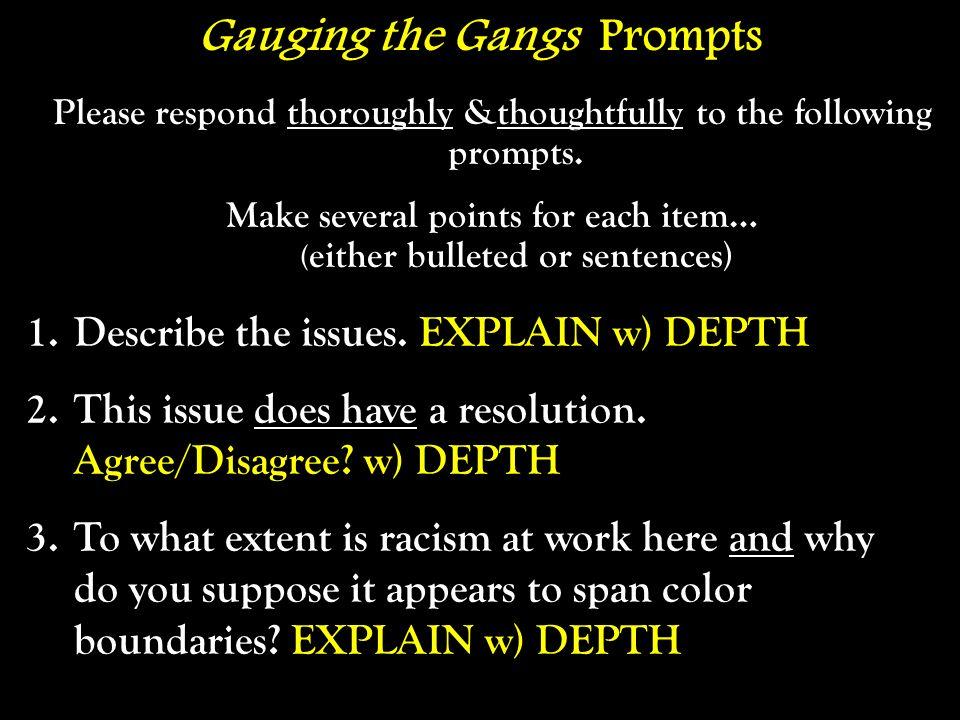 Gauging the Gangs Prompts