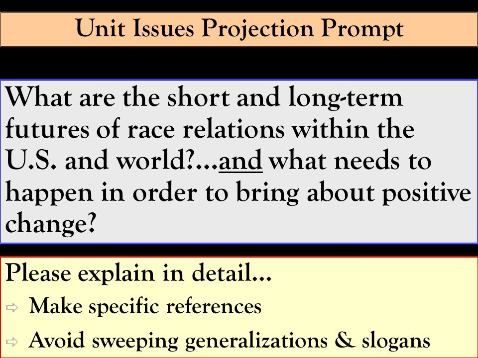 Unit Issues Projection Prompt