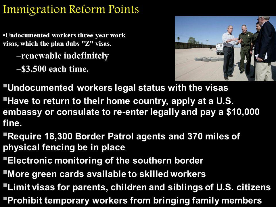 Immigration Reform Points