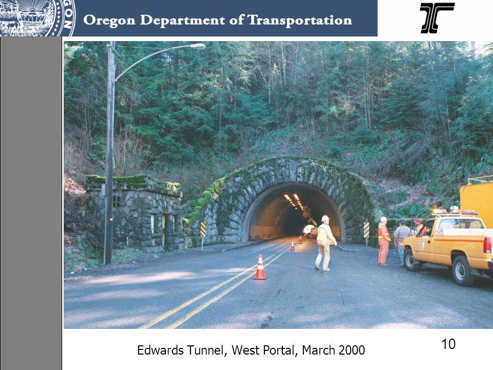 Edwards Tunnel, West Portal, March 2000