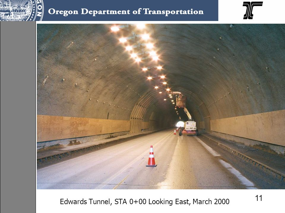 Edwards Tunnel, STA 0+00 Looking East, March 2000