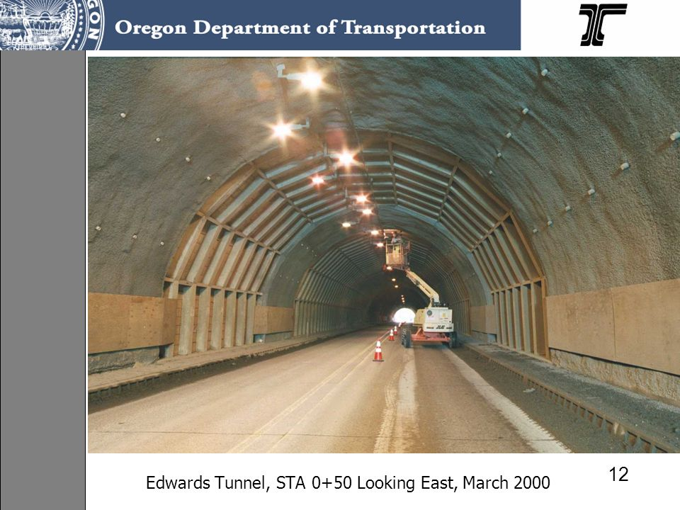 Edwards Tunnel, STA 0+50 Looking East, March 2000
