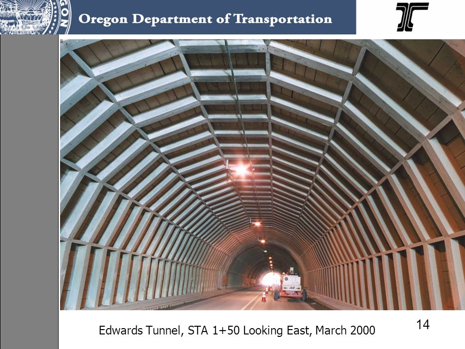 Edwards Tunnel, STA 1+50 Looking East, March 2000