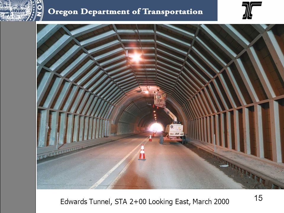 Edwards Tunnel, STA 2+00 Looking East, March 2000