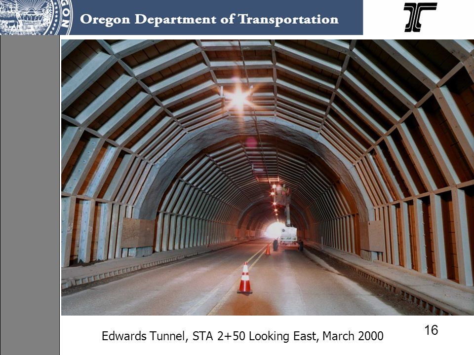 Edwards Tunnel, STA 2+50 Looking East, March 2000