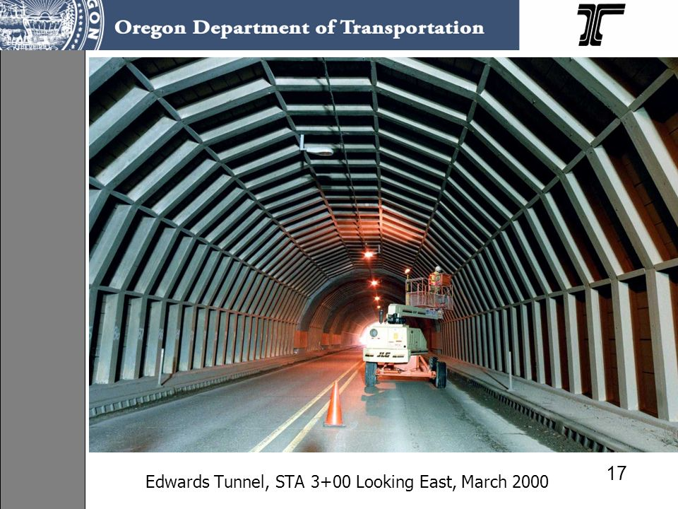 Edwards Tunnel, STA 3+00 Looking East, March 2000