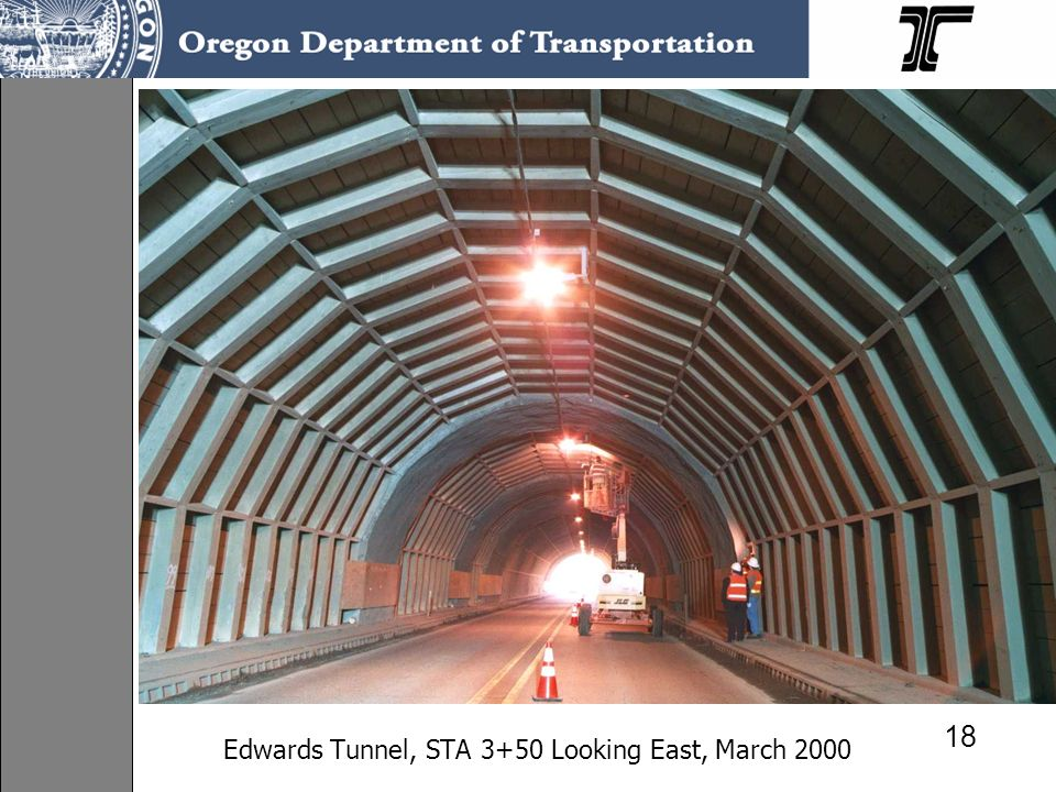 Edwards Tunnel, STA 3+50 Looking East, March 2000