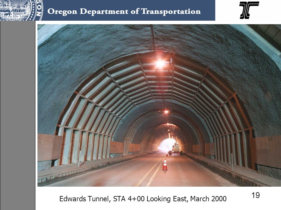 Edwards Tunnel, STA 4+00 Looking East, March 2000