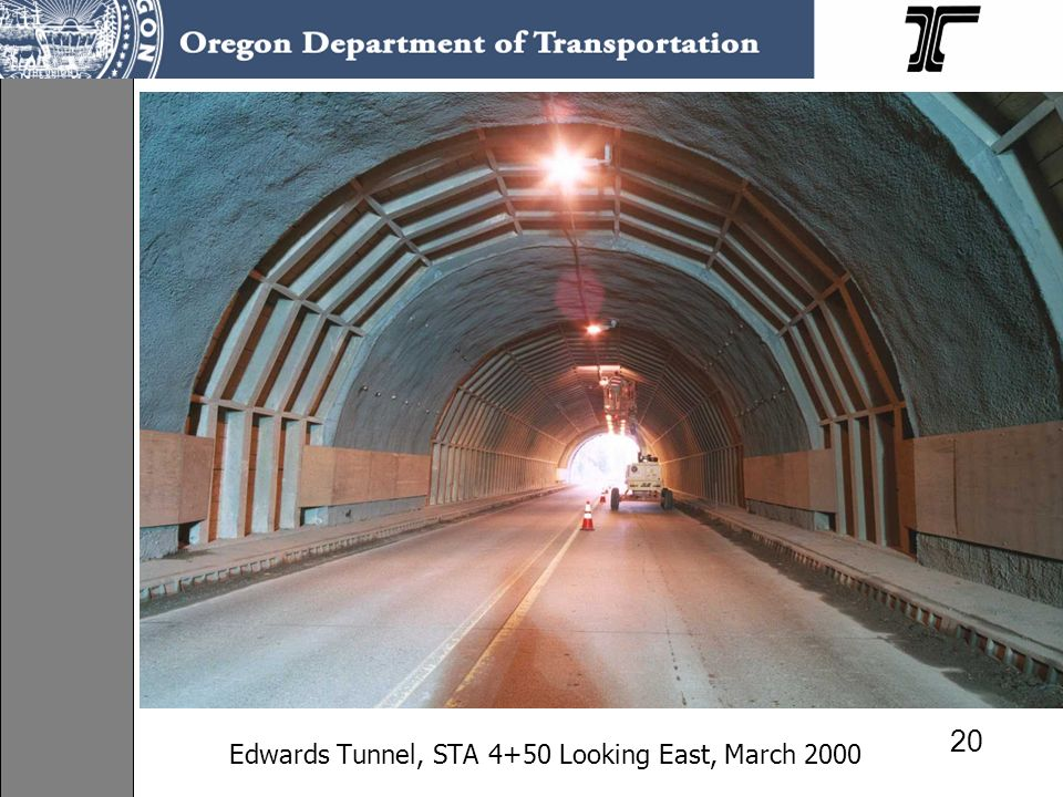 Edwards Tunnel, STA 4+50 Looking East, March 2000