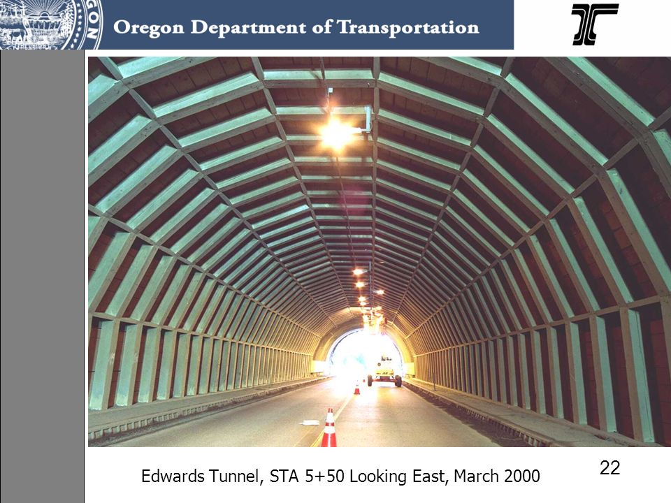 Edwards Tunnel, STA 5+50 Looking East, March 2000