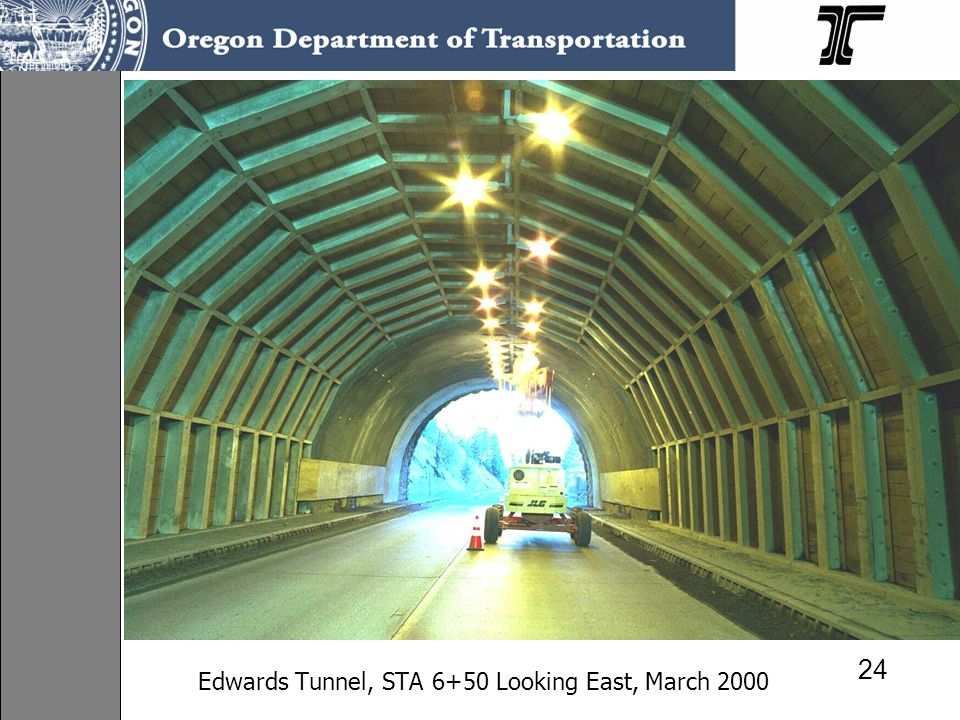 Edwards Tunnel, STA 6+50 Looking East, March 2000