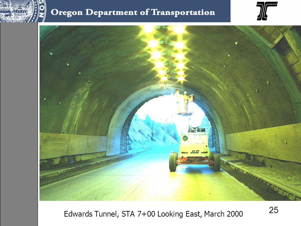 Edwards Tunnel, STA 7+00 Looking East, March 2000