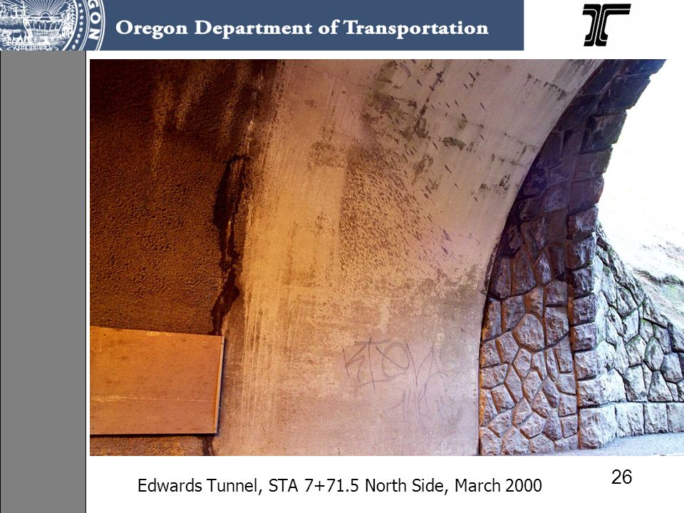 Edwards Tunnel, STA North Side, March 2000