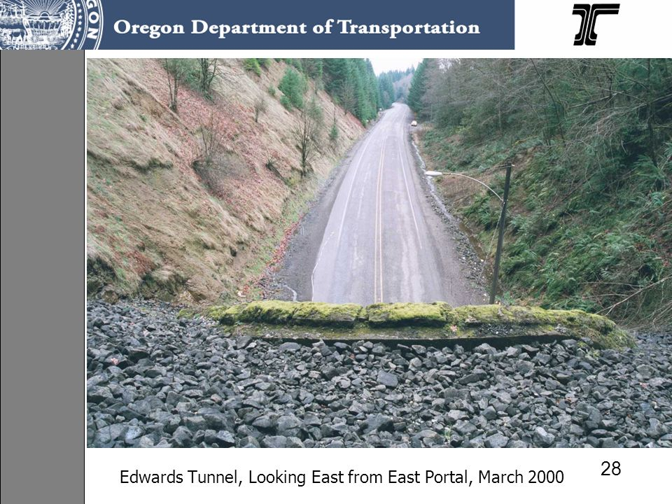 Edwards Tunnel, Looking East from East Portal, March 2000