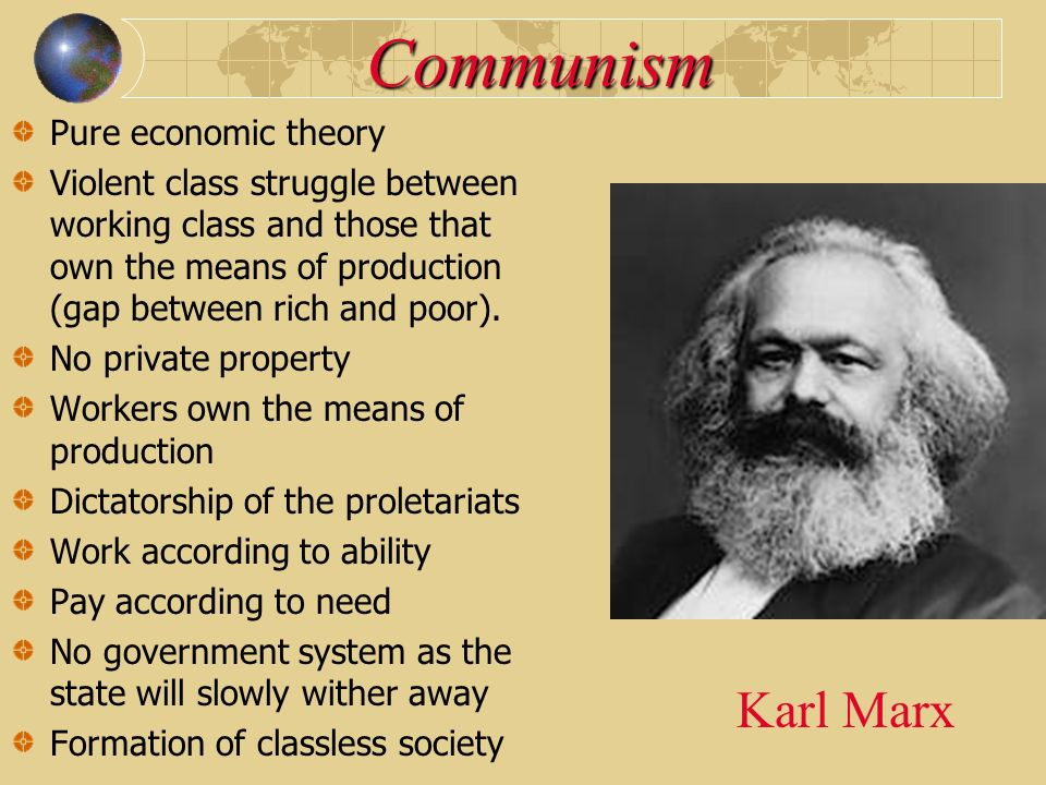 Communism Karl Marx Pure economic theory