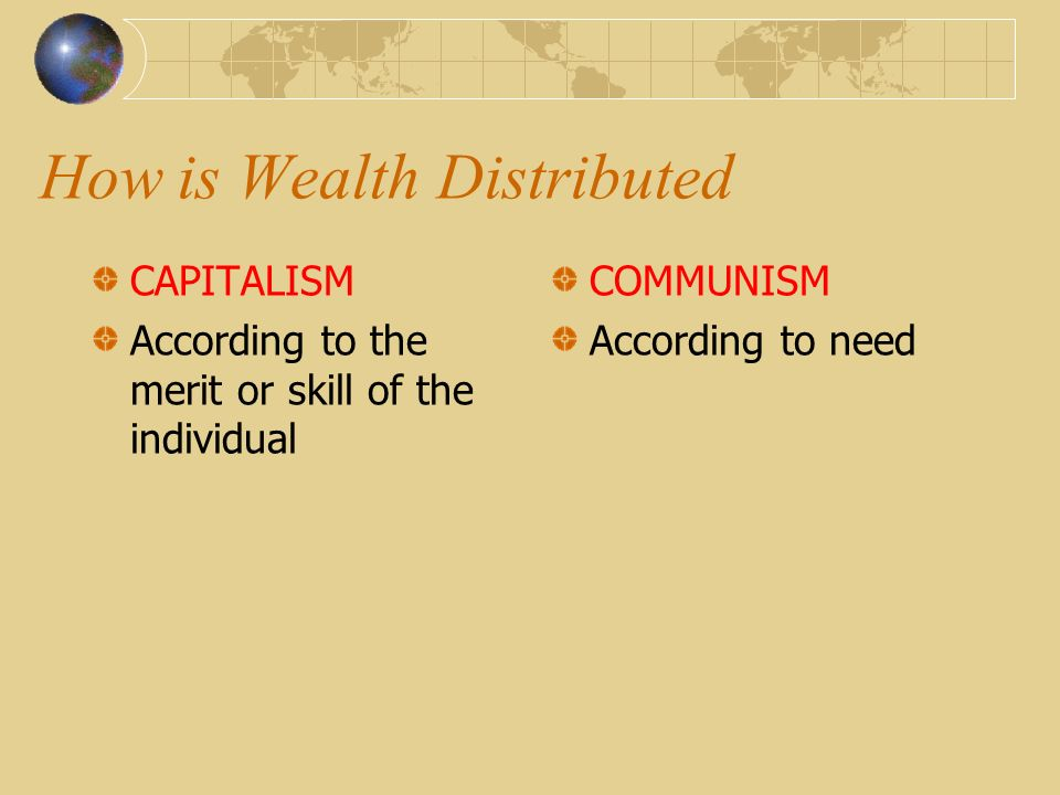 How is Wealth Distributed