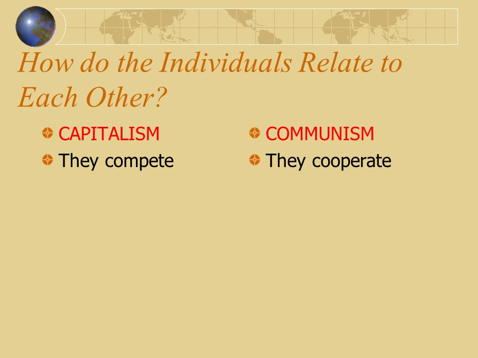 How do the Individuals Relate to Each Other