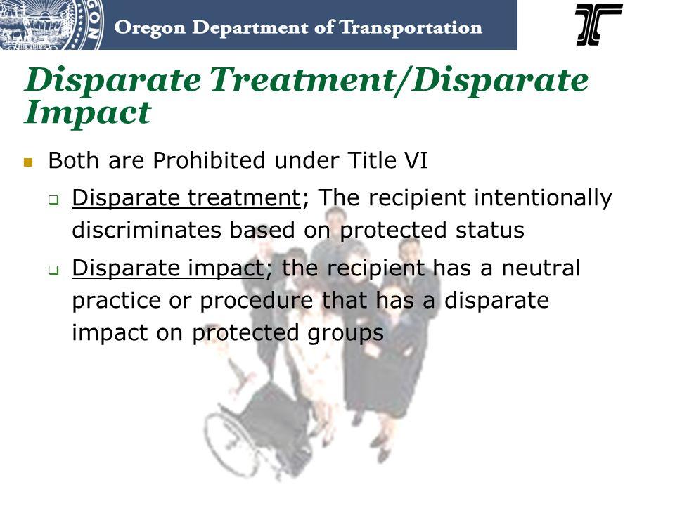 Disparate Treatment/Disparate Impact