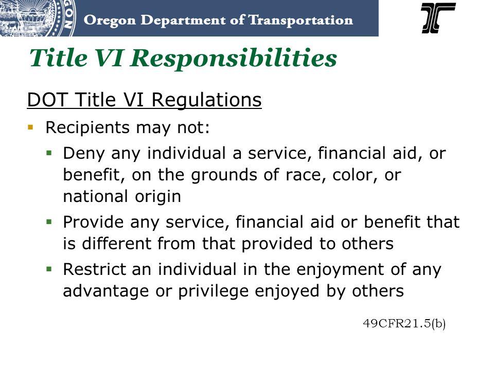 Title VI Responsibilities