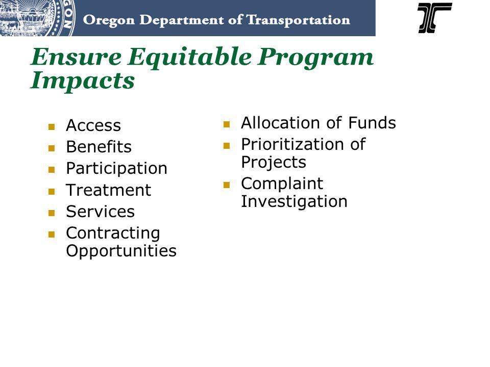 Ensure Equitable Program Impacts