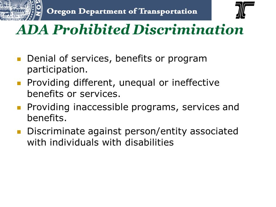 ADA Prohibited Discrimination