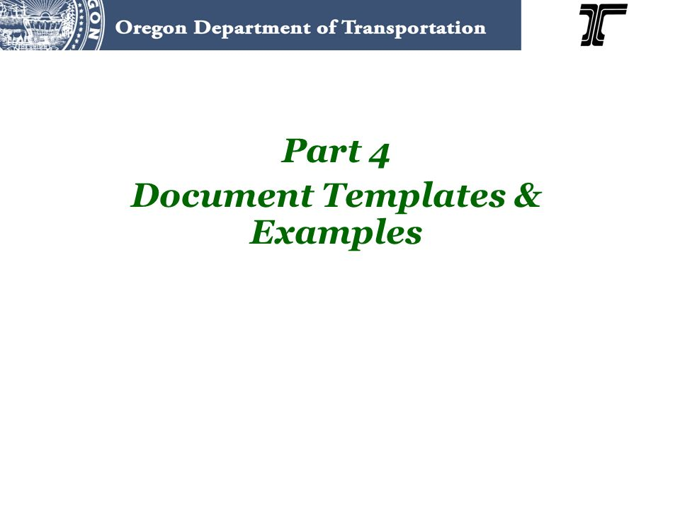 Part 4 Document Templates & Examples