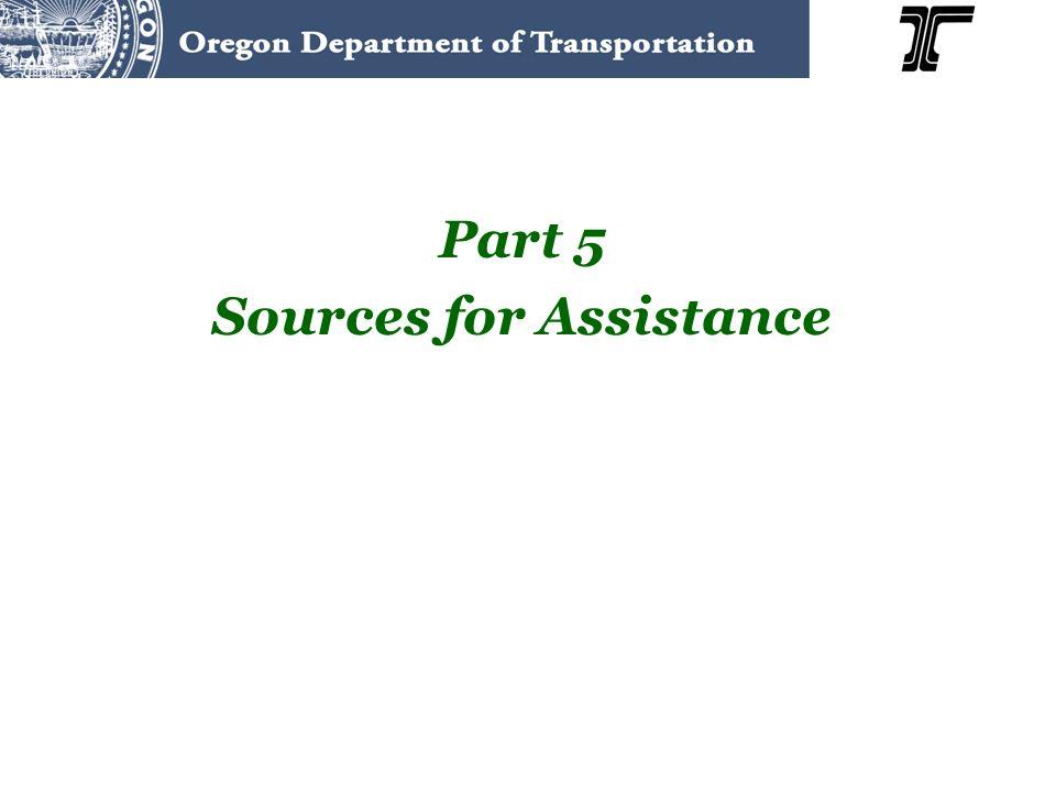 Part 5 Sources for Assistance