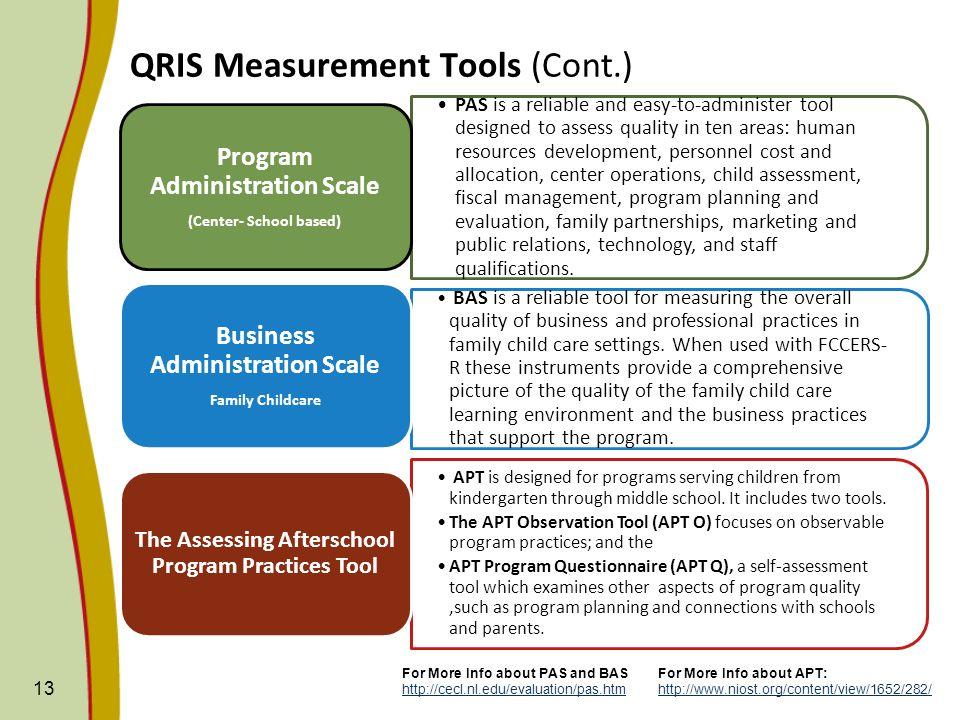 QRIS Measurement Tools (Cont.)