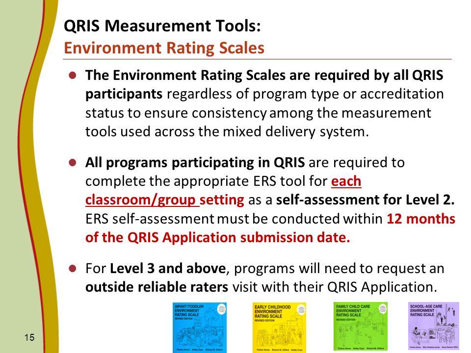 QRIS Measurement Tools: Environment Rating Scales