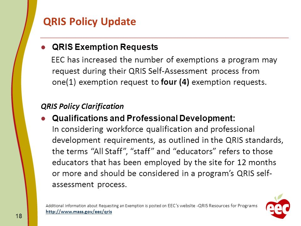QRIS Policy Update QRIS Exemption Requests.