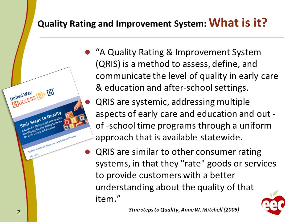 Quality Rating and Improvement System: What is it