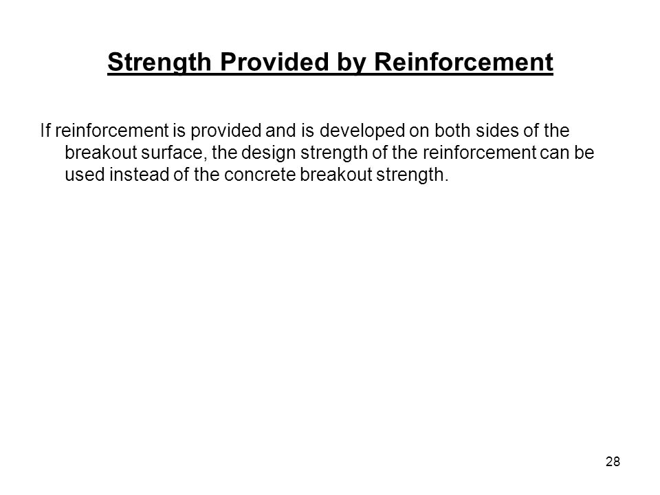 Strength Provided by Reinforcement