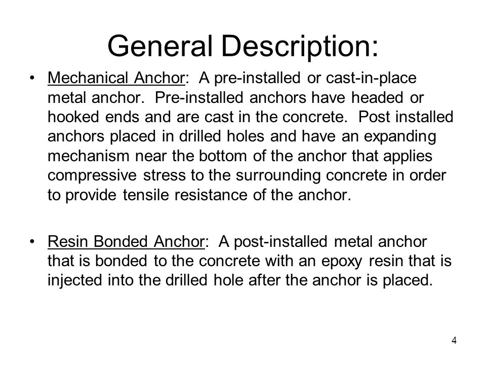 General Description: