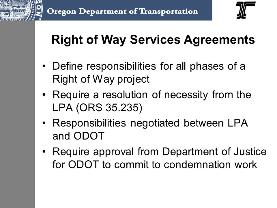 Right of Way Services Agreements