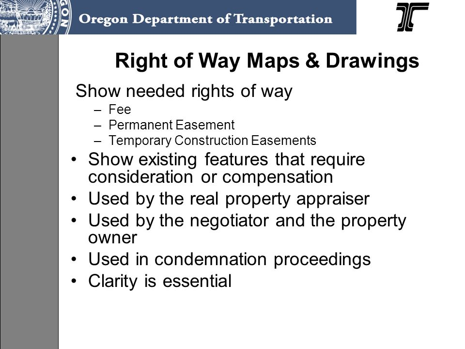 Right of Way Maps & Drawings